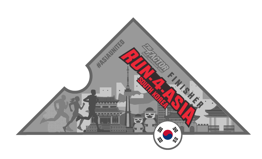 Trifactor Run-4-South Korea Virtual Run Medal